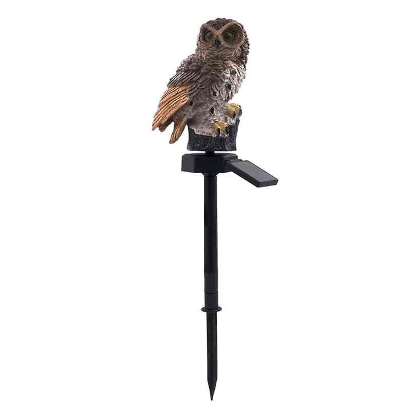 Owl Shape Waterproof Led Outdoor Solar Lights