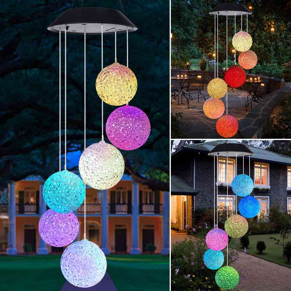 Spiral Wind Chime Style- Solar Led Light For Outdoor