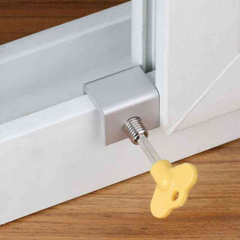 Sliding Window Alloy Door, Frame Anti-theft Protection Security Lock With Key