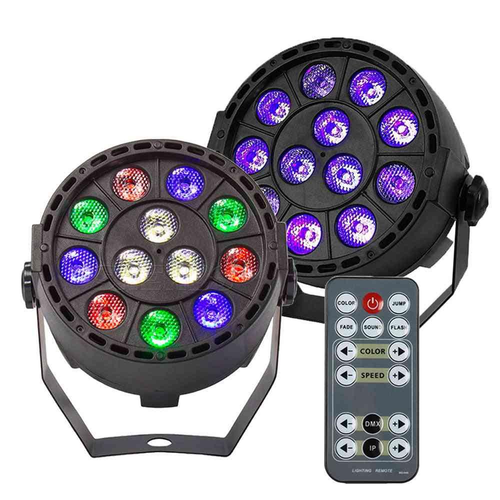 Wireless, Remote Control Rgbw, Uv Disco, 12 Led Stage Lighting Effect Light