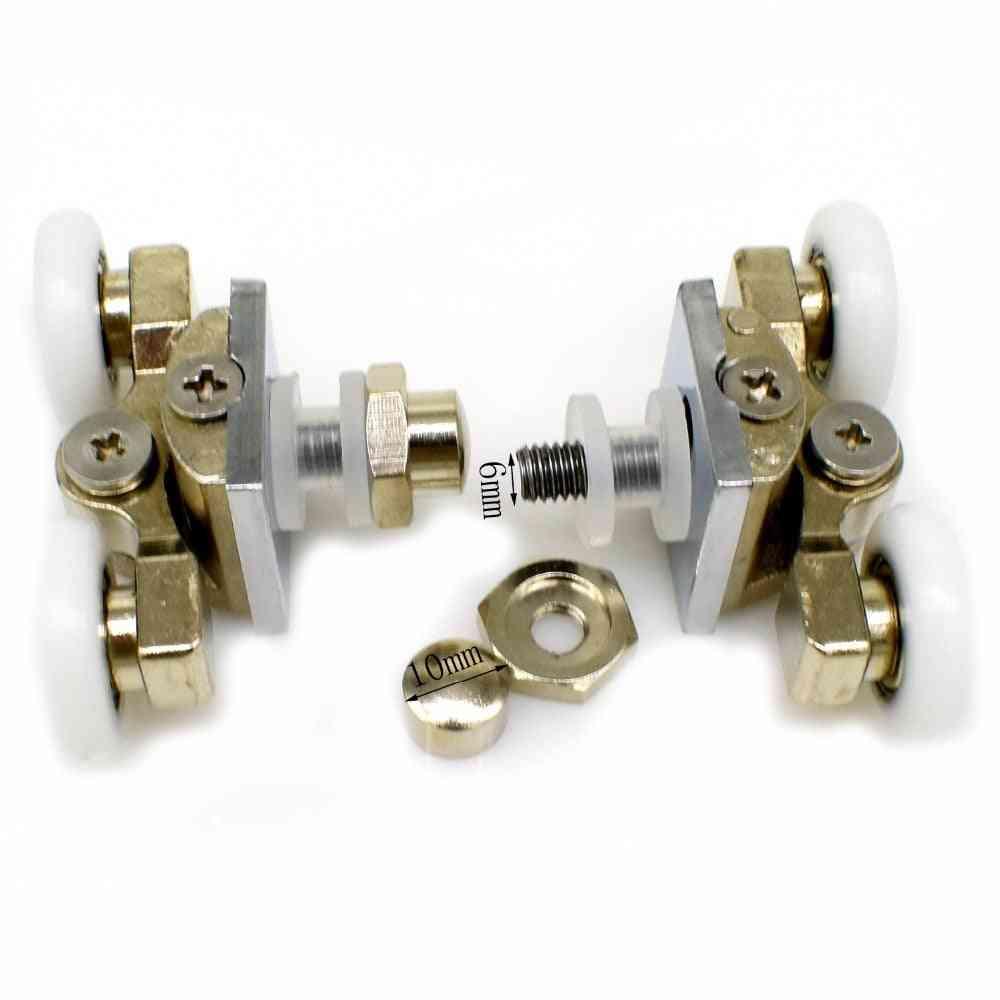 Shower Wheels Stainless Steel Brass Pulleys Replacement Door Rollers For Bathroom Fixture Hardware