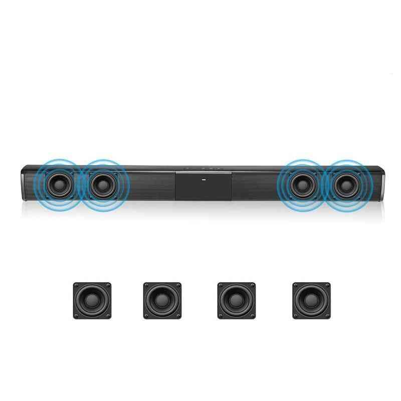 20w Tv Fm Sound Bar Wired And Wireless Powerful Bluetooth Speaker, Home Surround Soundbar For Pc Theater Tv Laptop (hei)