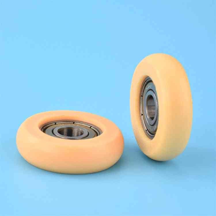 5pcs Round Type Pulley Wheel With Coated Bearing