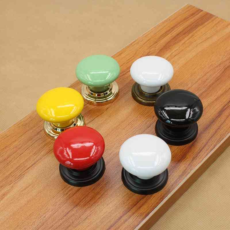 38mm  Colorful Ceramic Round Cabinet Knobs/pull Handles