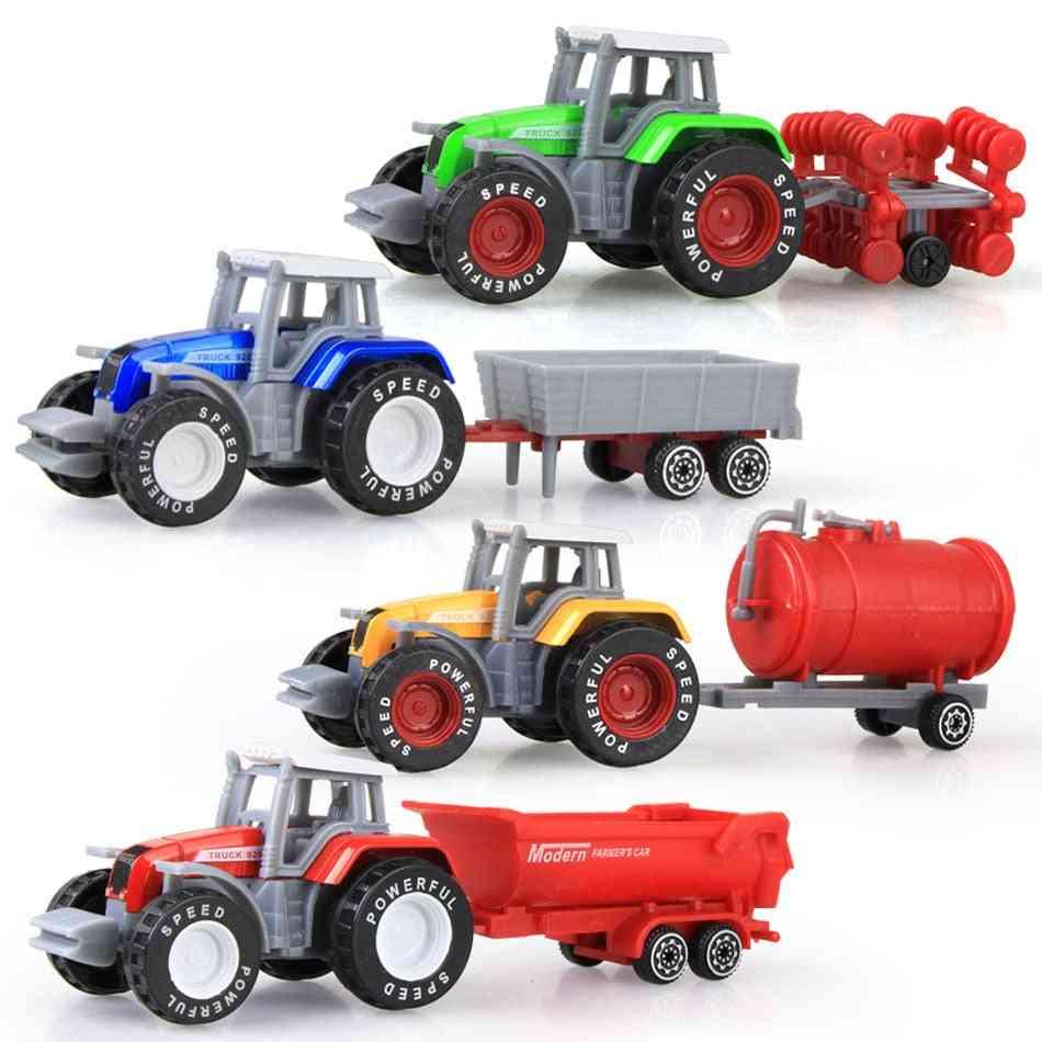 Die-cast Farm Vehicles, Mini Car Model - Tractor Model For Kids