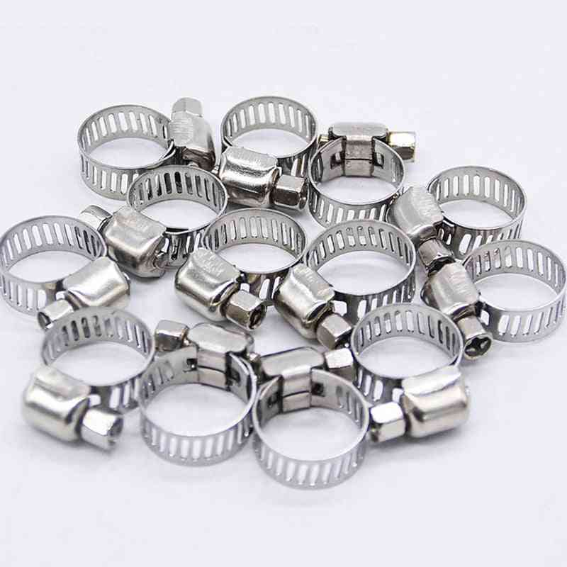 Stainless Steel Mini Fuel Line Pipe Hose Clamp Clip