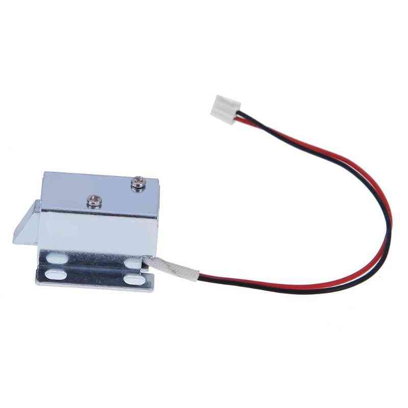 6/12v Dc Mini Solenoid Lock- Electromagnetic Electric Control Cabinet Drawer, Intelligent Auto Lock- Home Improvement
