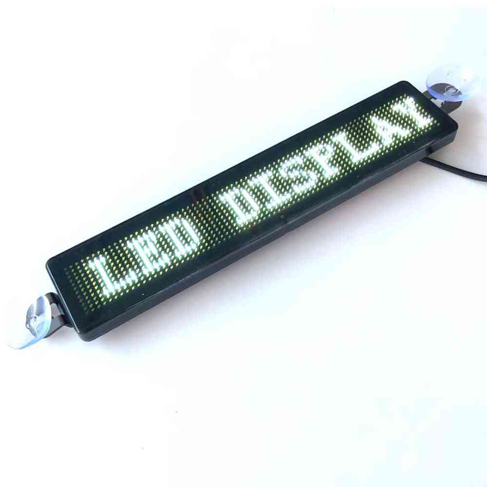 12v Programmable Car Led Display Advertising Scrolling Message Sign Remote Control With Sucking Disk