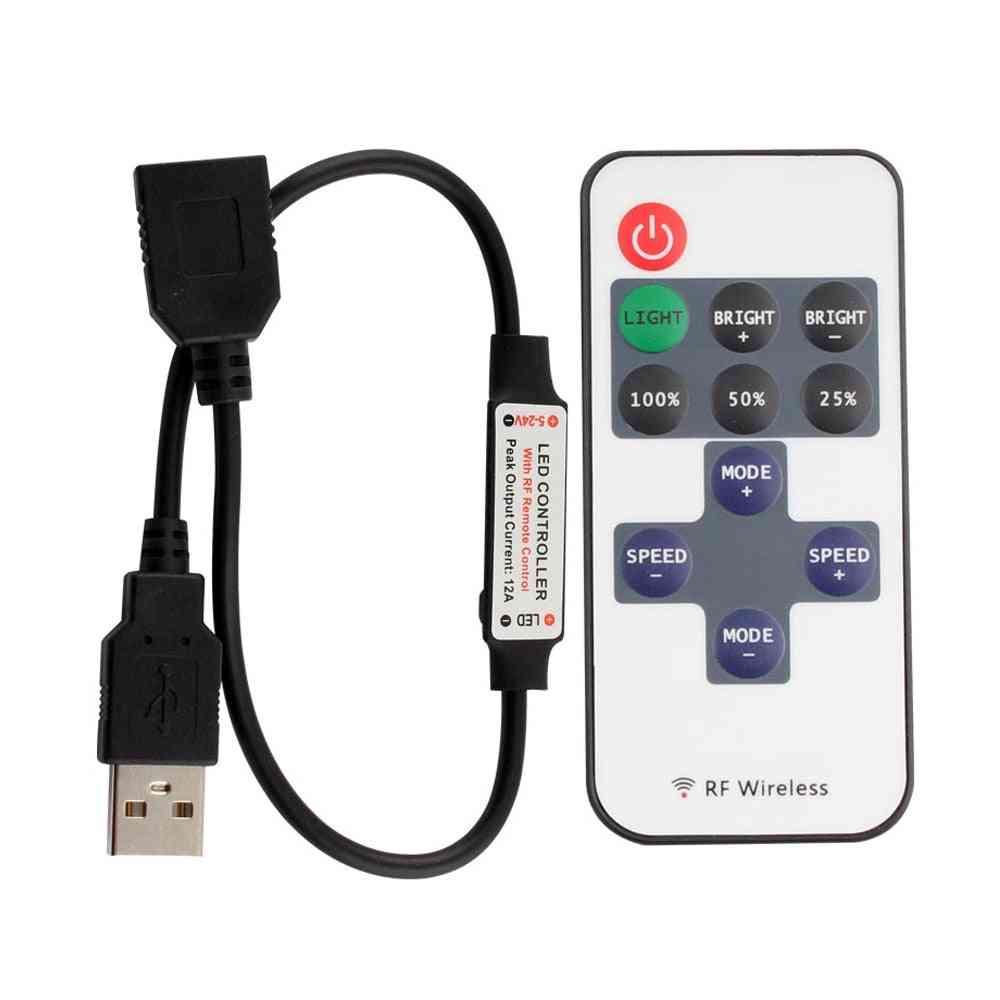 Mini Dimmer Rf Remote 5v Usb Interface Controller For Led Strip