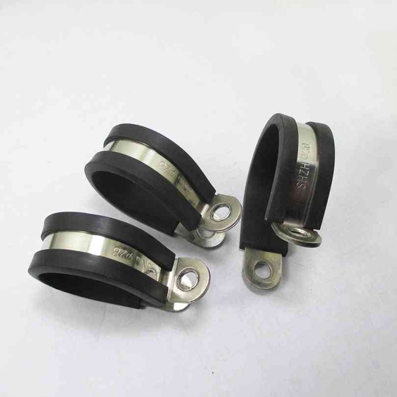 Stainless Steel Rubber Lined P Clips -cable Mounting Hose Pipe