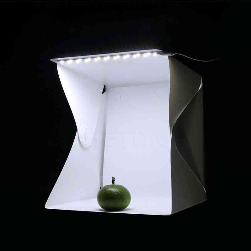 Mini Soft Box, Led Photography For Room Folding Studio Light