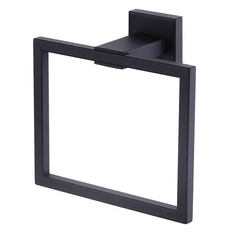 Stainless Steel  Towel Holder -storage Rack - In Square Shape