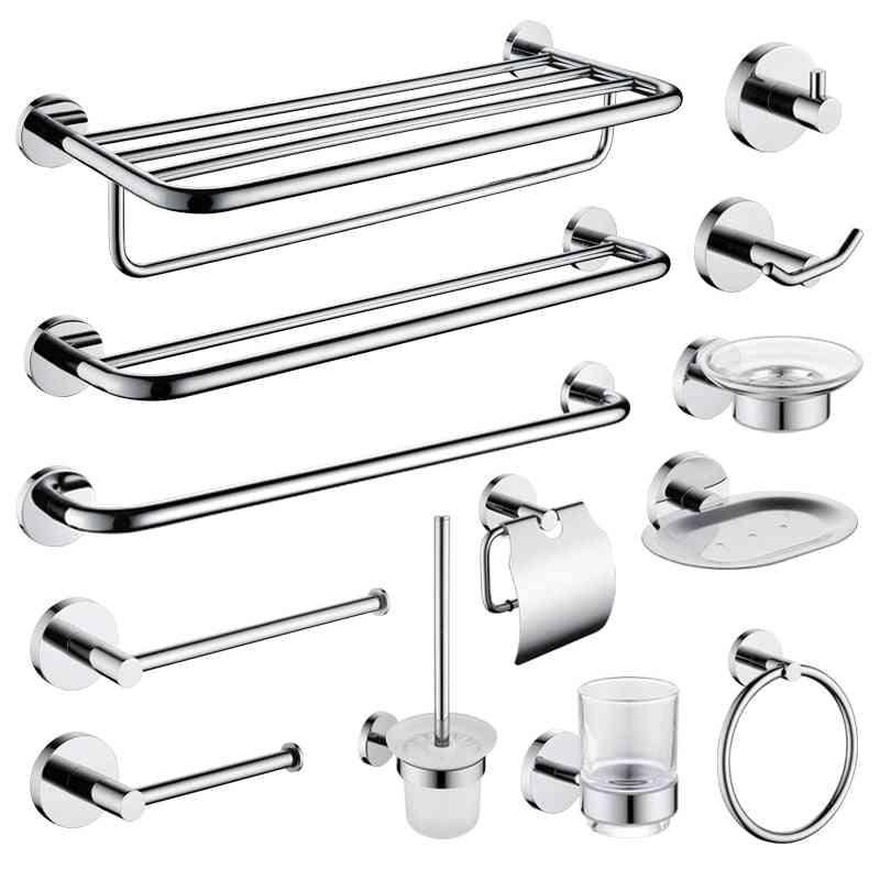 High-quality Bathroom Hardware Set-towel Rack, Paper Holder, Toilet Brush Storage