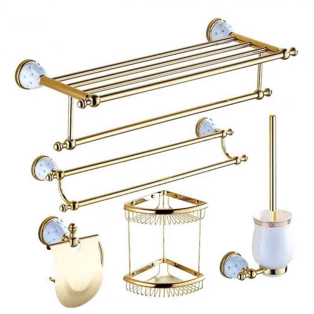 Toilet Paper Holder, Towel Bar And Shelf Brush Holders Bath Hardware Set