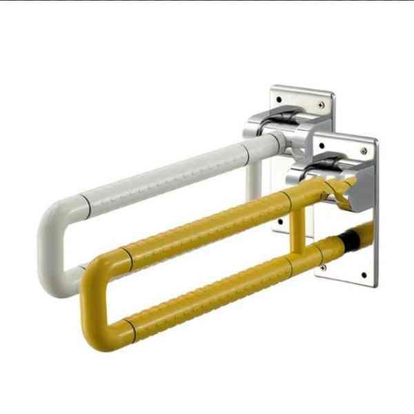 Stainless Steel, Folding Washroom Safety Grab Bar, Anti-skid Toilet Handrail