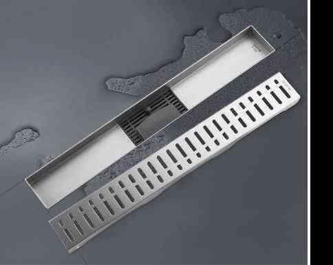 Anti-odor Drains Recgangle Linear, Bathroom Floor Cover Stopper For Bathroom Shower Drain Hair Catcher