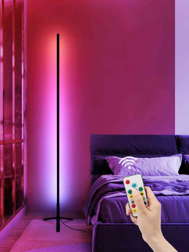 Symphony Floor Lamp, Colorful Dimming Decoration Live  With Three-color For Living Room Bedroom, And Anchor Room