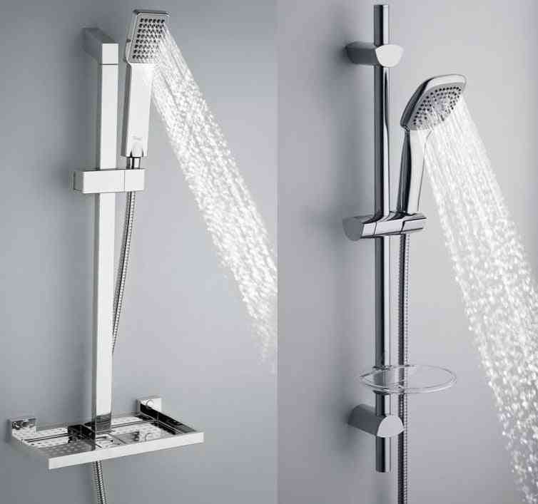 Wall Mounted, Adjustable Shower Heads, Slide Bars, Holders And Extensions