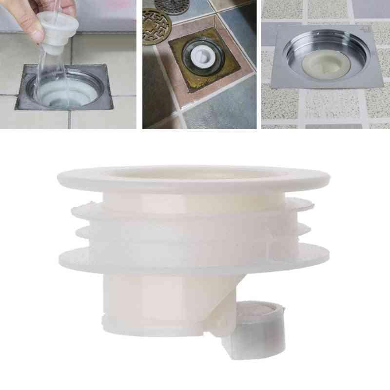 White Bathtub Plug For Shower- Floor Drain