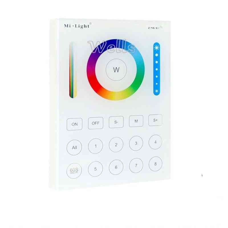 Wall-mounted Touch Panel; Zone Remote Rf Dimmer; Smart Led Controller For Rgb+cct Strip