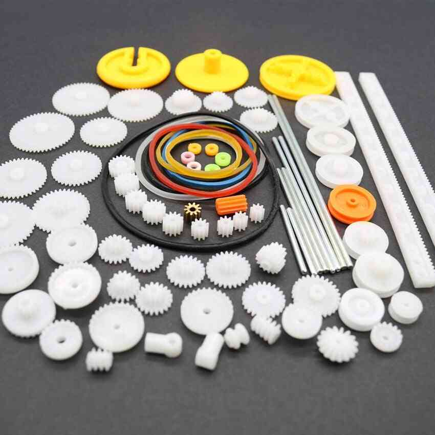 Different Gears Belt Wheel Sector Worm Toy -car Making