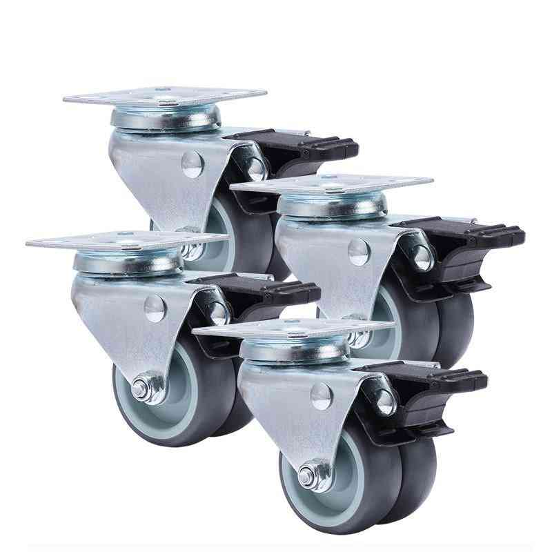 2 Inch, 360 Degree Swivel-casters Wheels With Brake For Platform, Trolley, Furniture