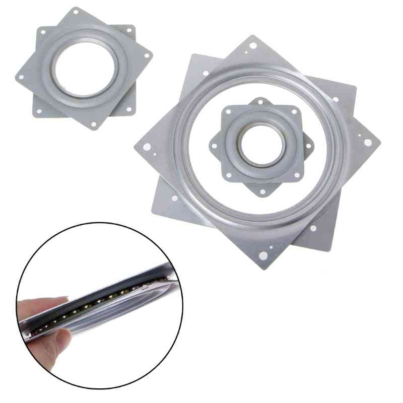 Square Shaped 360° Rotating Rolling Bearing Plate