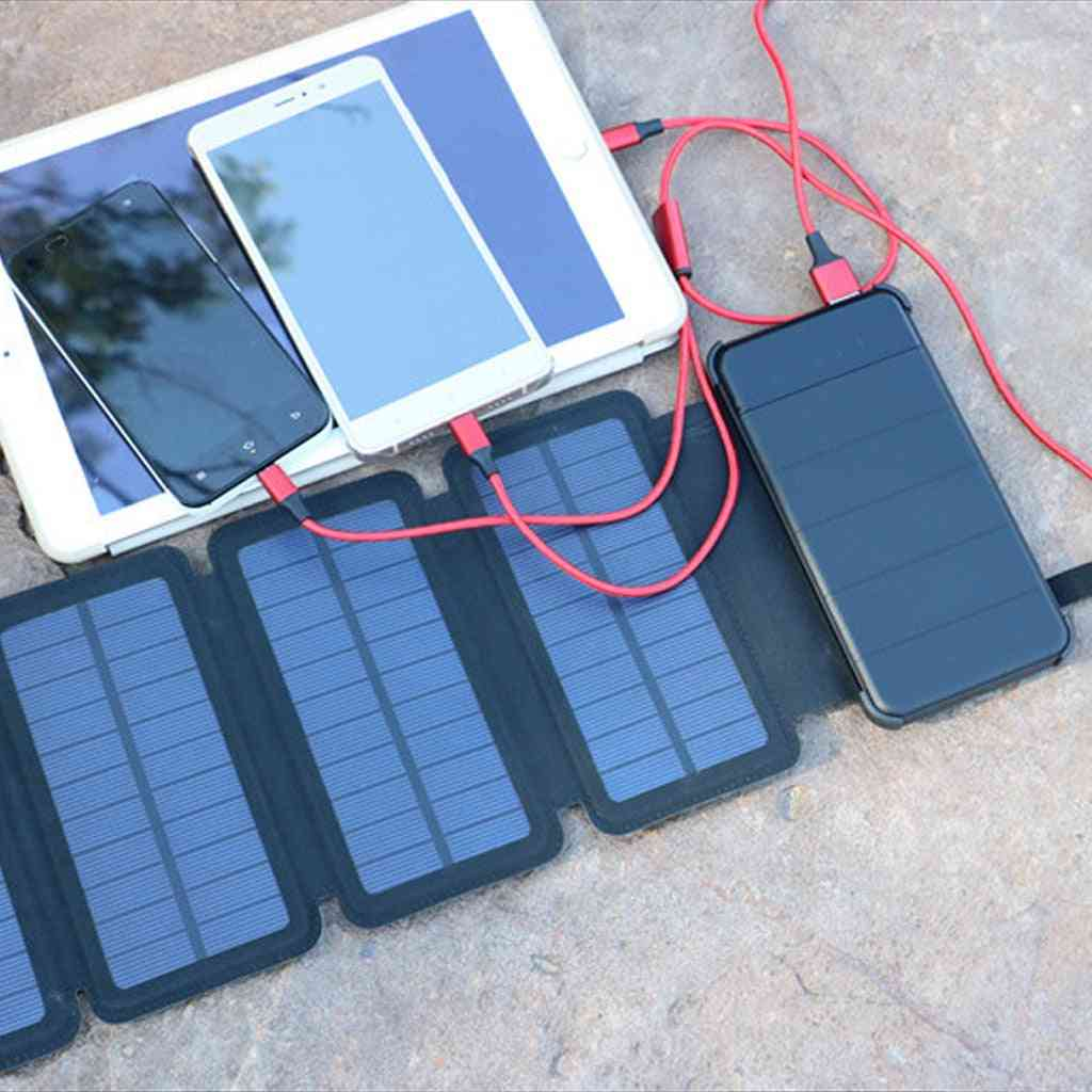Solar Panel -mobile Power 10000mah Phone Battery Charger