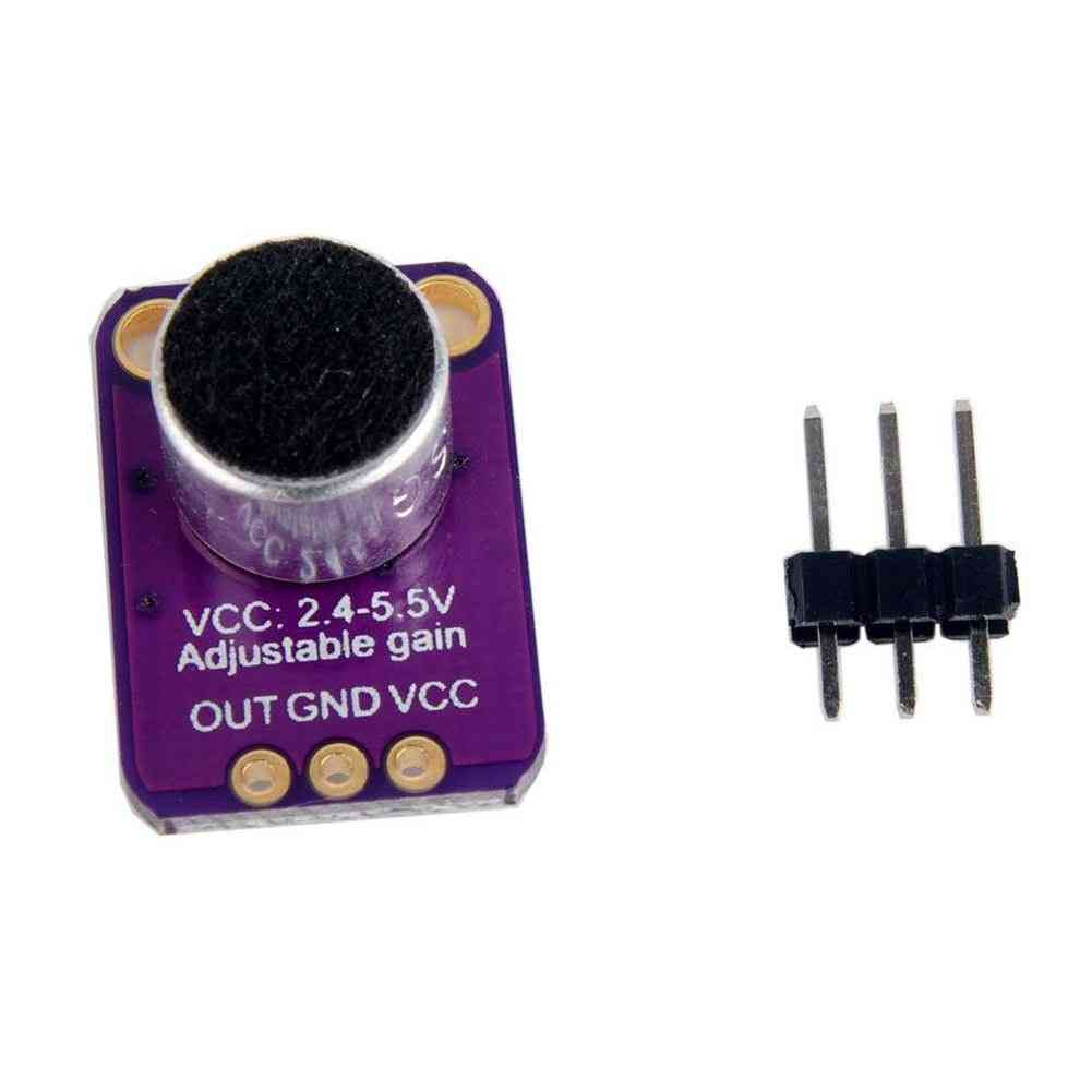 Electret Microphone Amplifier Sensor With Adjustable Gain