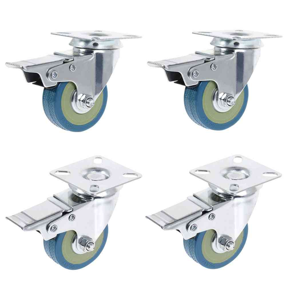 Universal Double Ball, Bearing Swivel-castor Wheels With Brake