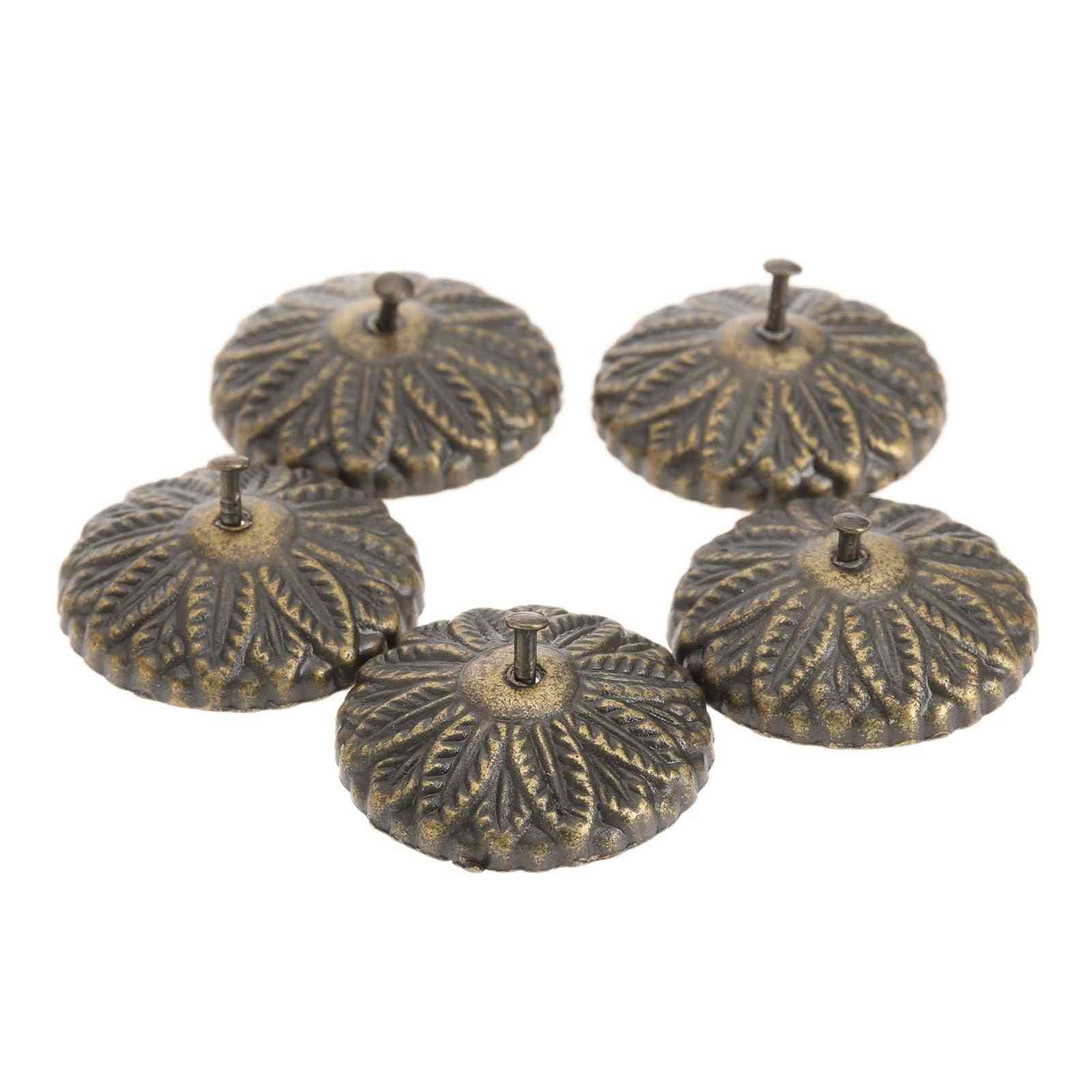 Antique Bronze Carved Drum Nails, Decorative Furniture, Upholstery Nails Tack Studs