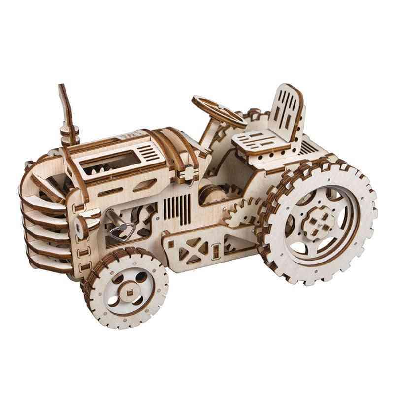 4 Kinds Of Diy Laser Cutting 3d Mechanical Model -wooden Model Building Kits Toy