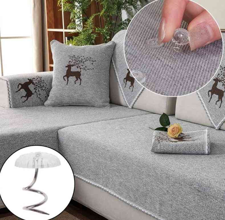 Transparent Heads, Upholstery Twist Pins For Holding Fabric