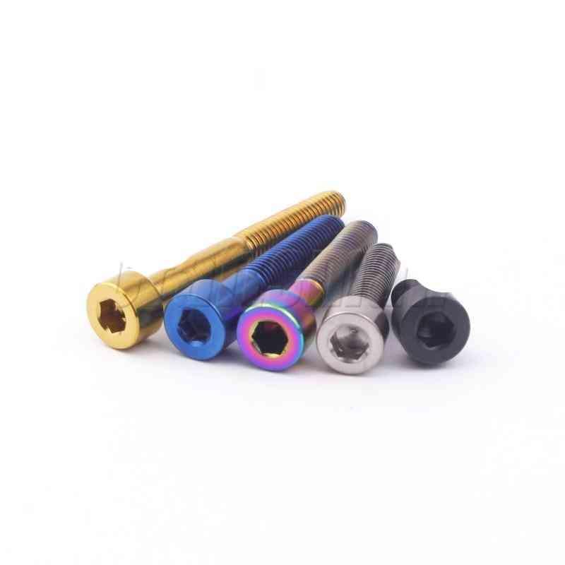 Titanium Bolt With M5 X 10 12 16 18 20 25 30 35 40 45 50 60mm Allen Key Stigma Head Ti Bolt Screw For Bicycle Stem Seatpost