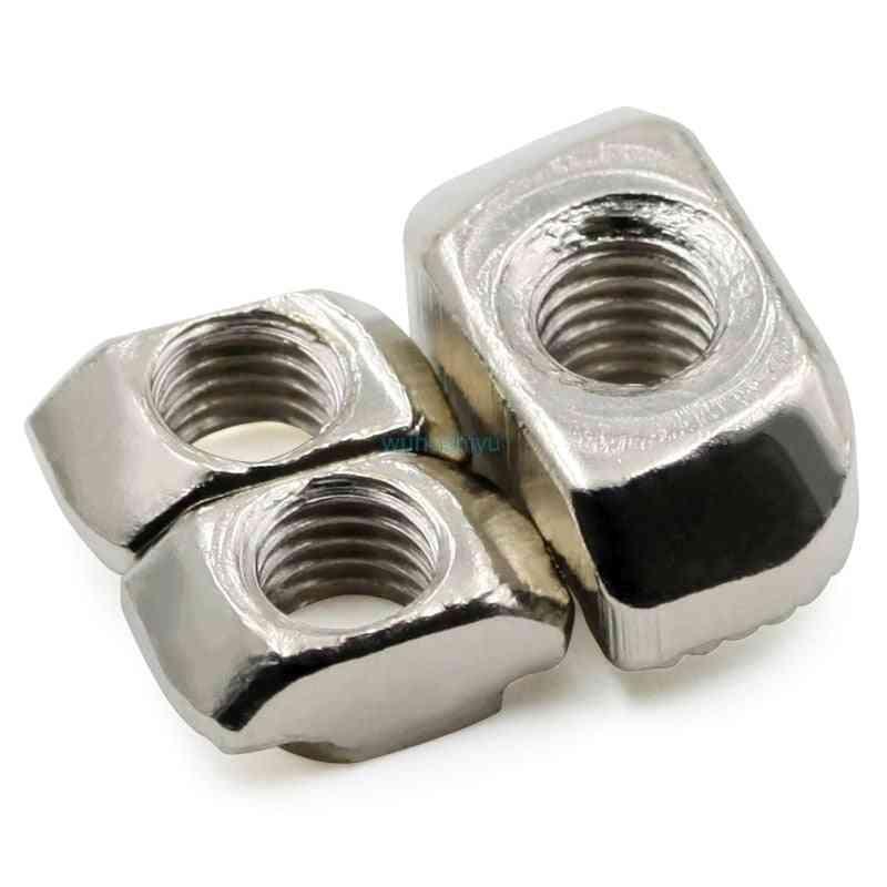 Hammer Head T Nut Fasten Slot Connector Nickel Plated