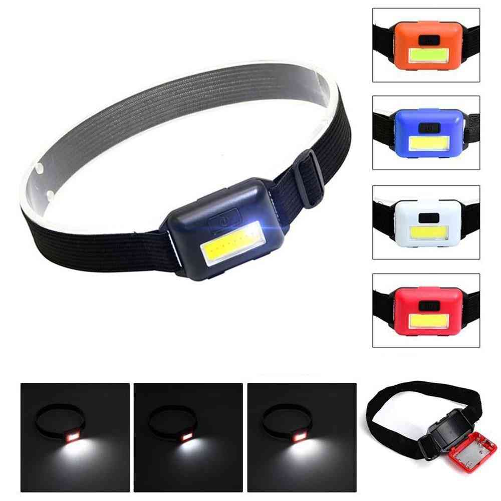 Outdoor Camping Portable Mini Xpe+cob Led Headlamp - Usb Rechargeable Fishing Flashlight
