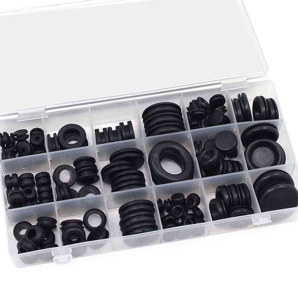 Waterproof Protect Wire Tool Set, Rubber Cables Grommet Kit - Electrical Plugs Conductor Gasket Ring