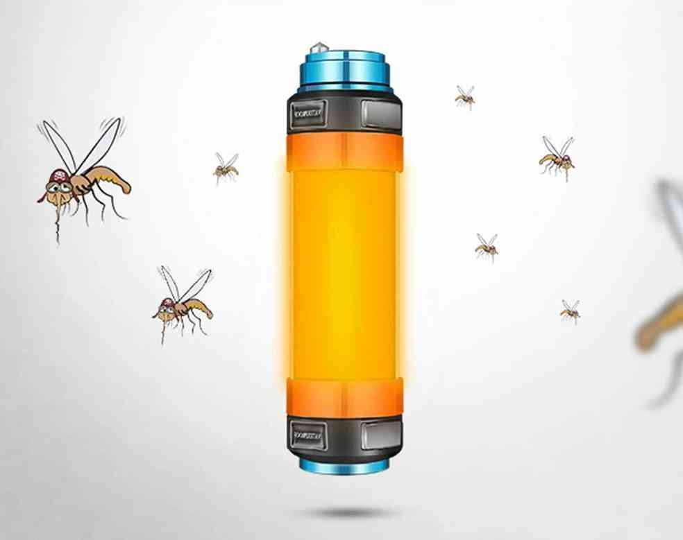 Led Camping Light 7800mah Mosquito Tent-lamp, Usb Rechargeable Waterproof Multi-functional Lantern Flashlight Hanging Magnetic