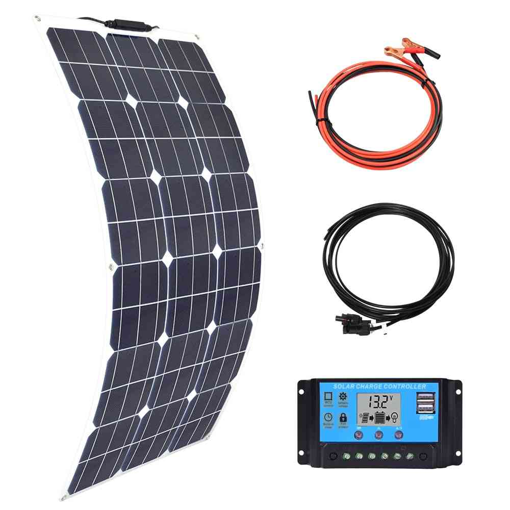 Flexible Solar Panel - Usb Battery Charger For Phone, Car And Boat