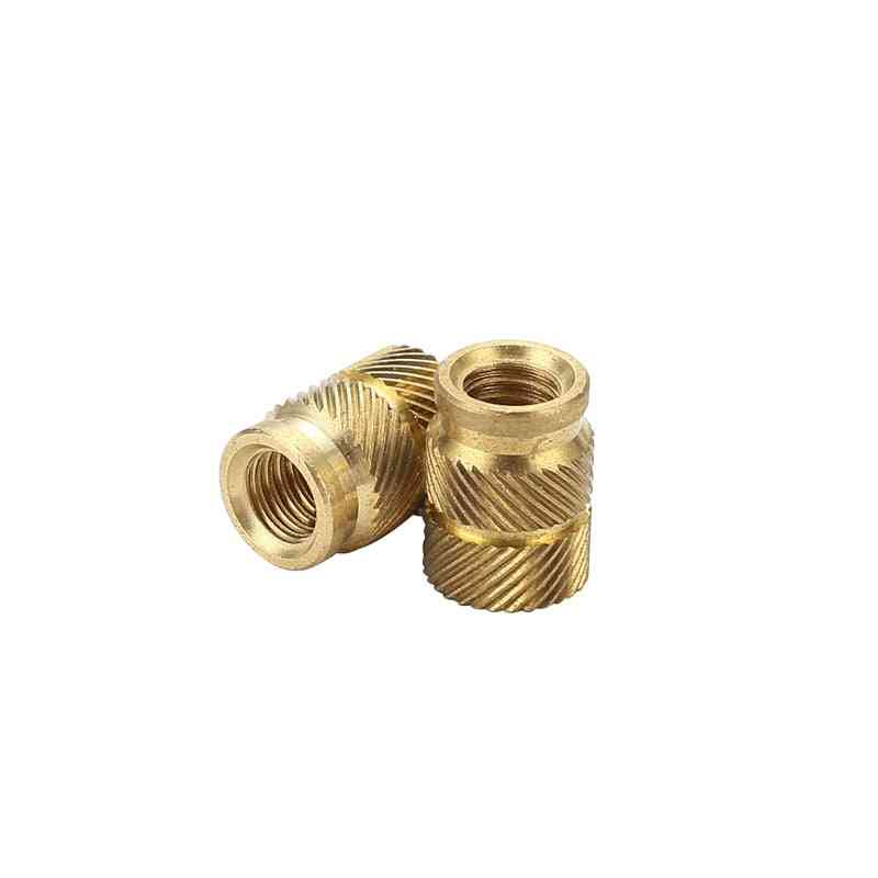 Sl-type Double Twill Knurled -injection Nut Brass