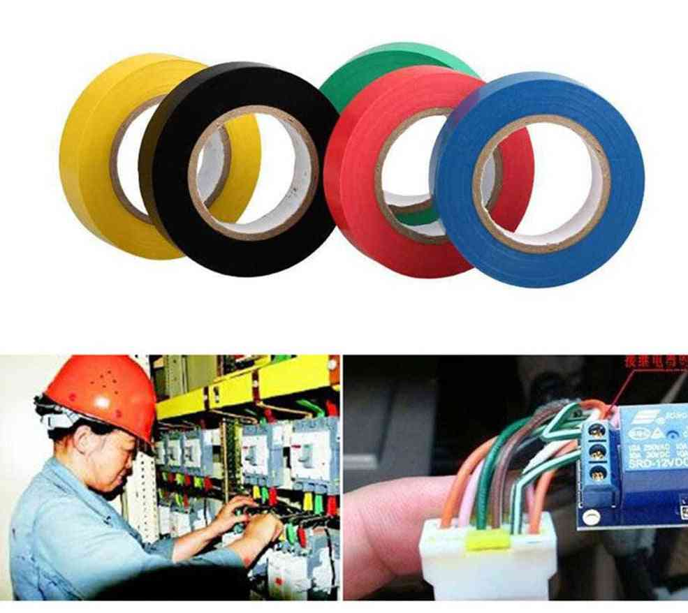9m Wire Flame Retardant Electrical Insulation - Waterproof Self-adhesive Electrician Tape