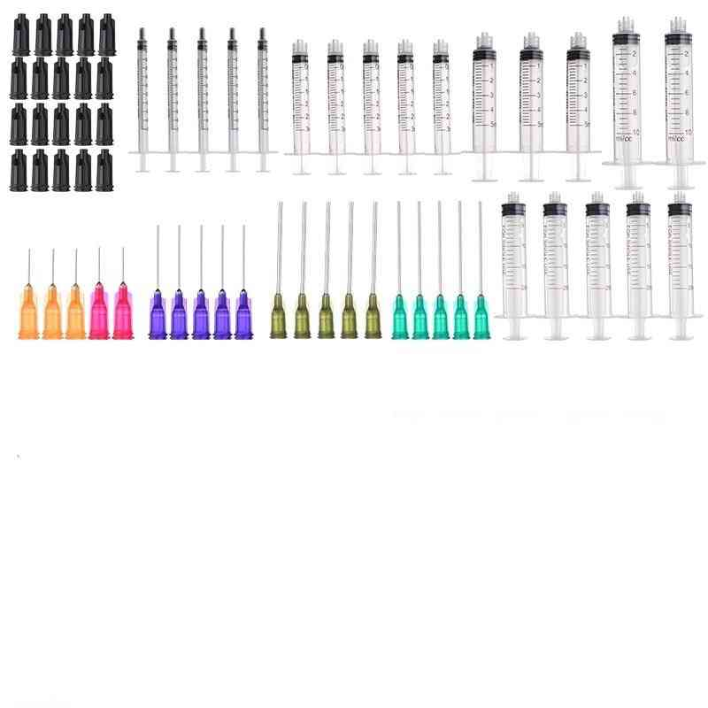 1/3/5/10/20ml Plastic Syringes With Blunt Tip Needles & Caps Industrial Use For Refilling And Measuring E-liquids