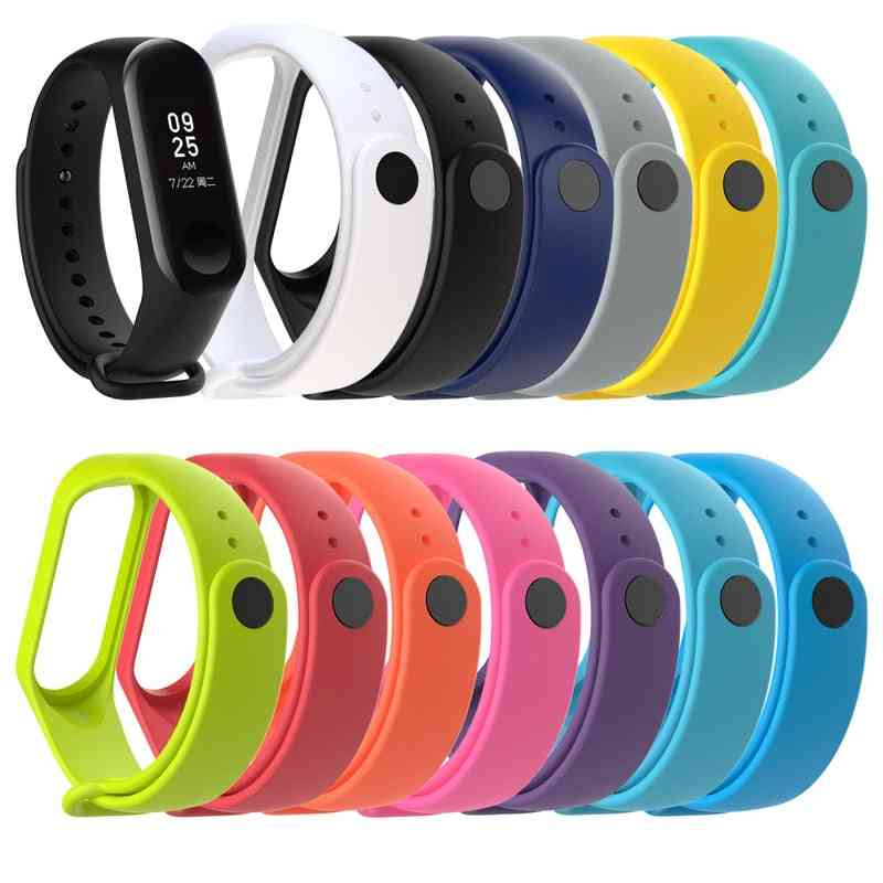 Replacement Silicone Wrist Strap For Xiaomi Mi Band 4/3 Smart Watch