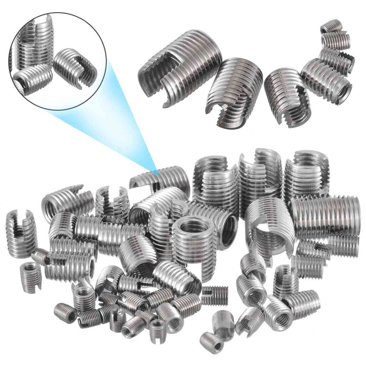 Stainless Steel Thread Repair Insert Kit -helical Self Tapping Slotted Screw