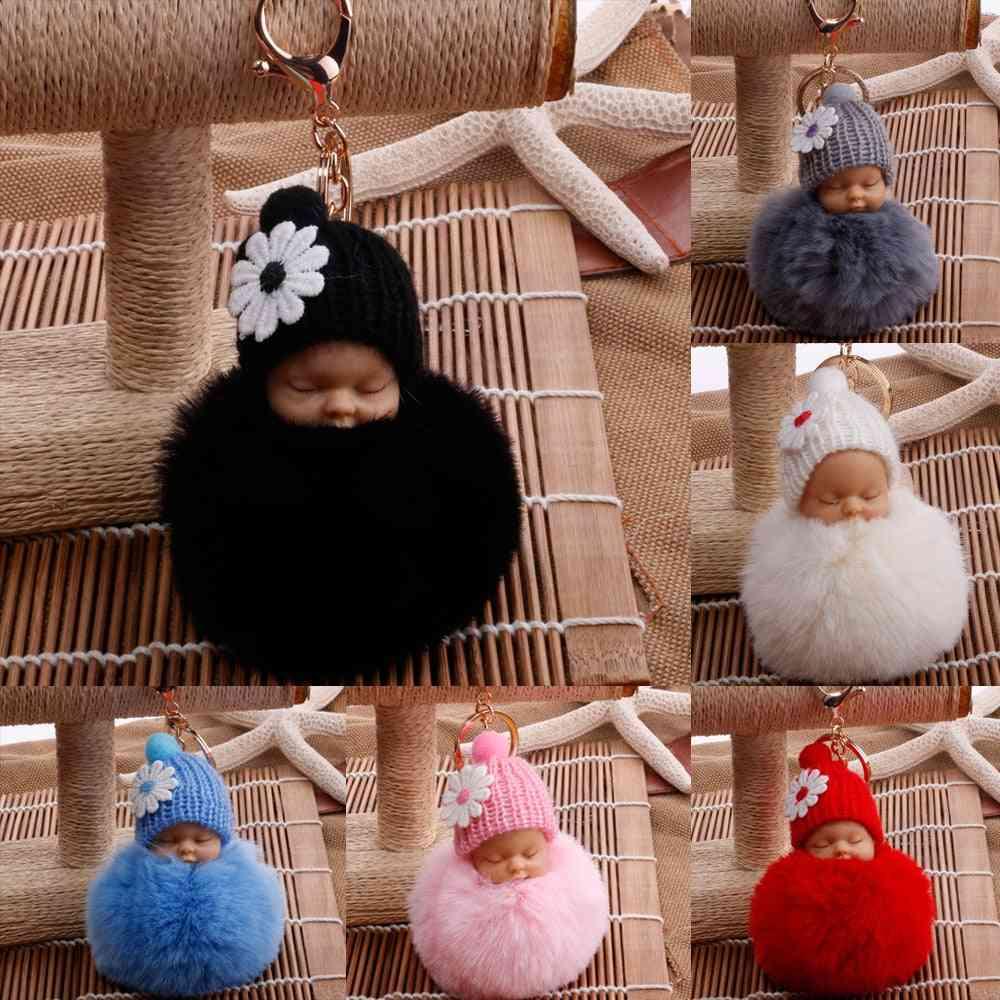 Cute Sleeping Baby Doll Key Chains Bag