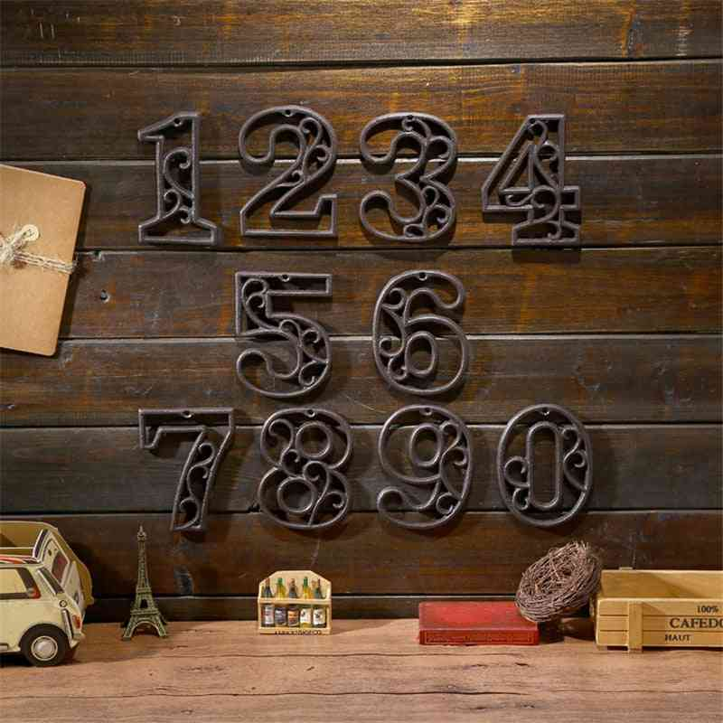 Industrial Cast Iron House Number, American Style