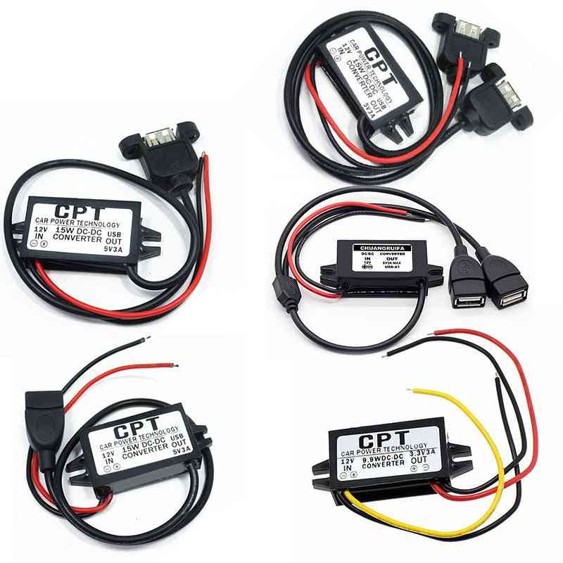 12v To 5v Usb Buck Power Converter