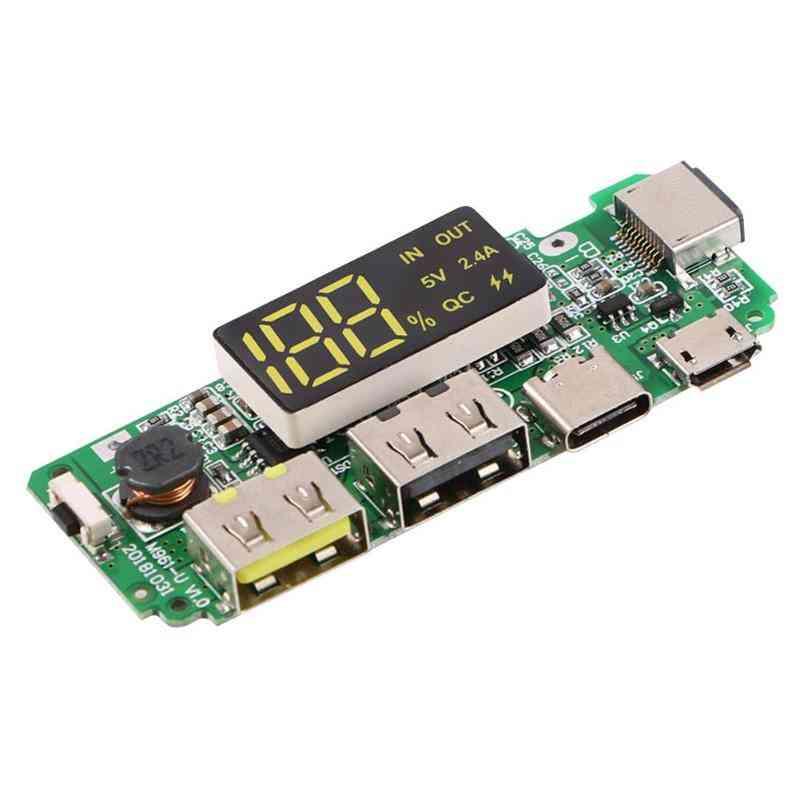 Dual Usb 5v 2.4a Power Bank Charging Board