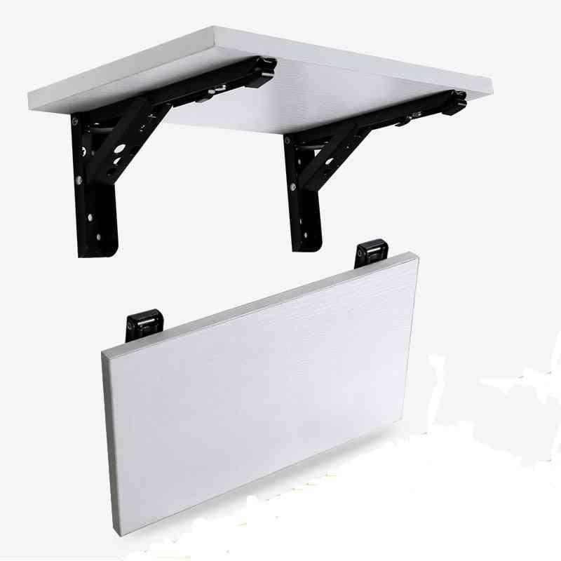 2pcs 10 Inch Steel Triangle Wall Mount Folding Shelf Bracket
