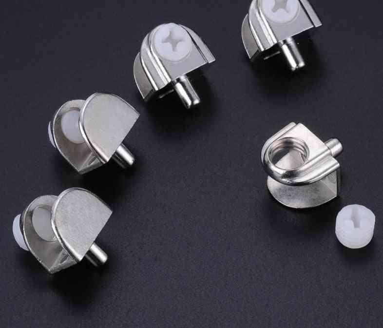 12pcs Glass Clamps Adjustable Shelves Holder Corner Bracket Clamp